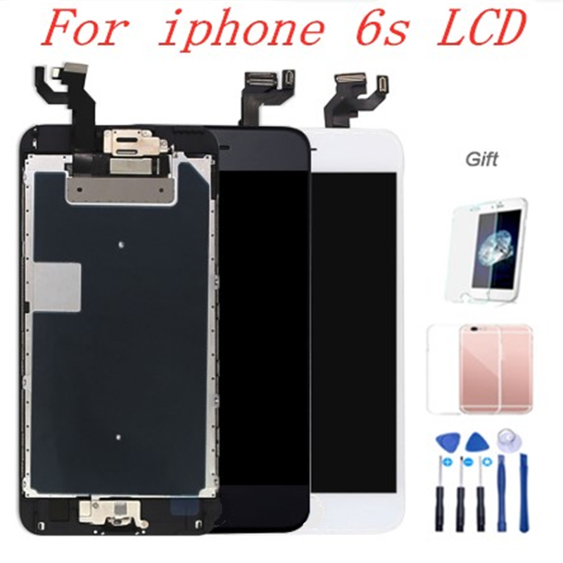 AAA Full Set 4.7 LCD Display For iPhone 6S Complete LCD Screen Touch Digitizer Full Assembly Replacement Home Button+Camera image