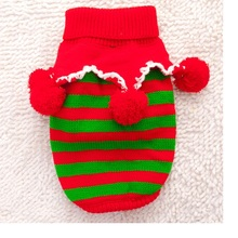 30pcs/lot Christmas Warm Pet Dogs Cat Striped Sweater Coat Puppy Dogs Clothes Costume Knitwear Apparel WA1209