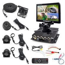 4CH Car Vehicle DVR MDVR Video Recorder+ 7