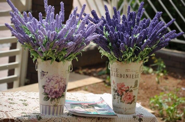 Artificial Flowers Artificial Bouquet Of 12 Lavender