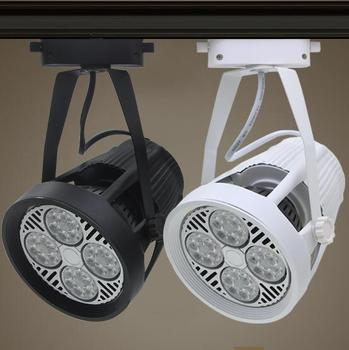 led track lights 35W 40W par30 clothing spotlights backdrop shop windows slide rail track light lamp warm / nature /cold white