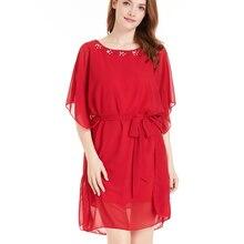 2019 de vestidos tamanho vestido mujer verano pará como mulheres Metade vestido de chiffon