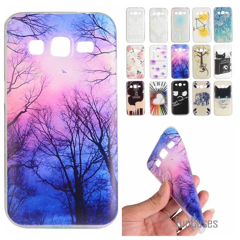 Cartoon Lemon painted Rubber Back Cover Silicon Gel Soft TPU mobile phone case For Samsung Galaxy Core Prime G360 G3606 G3608