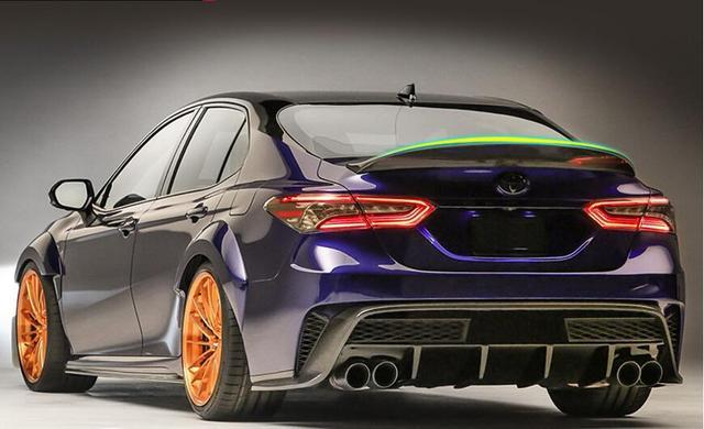 Jioyng Carbon Fiber Car Rear Wing Trunk Lip Spoilers Fits For Toyota