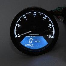 Цифровой тахометр, измеритель скорости, одометр, мотоцикл, 12000 об/мин, Автомобильный Тахометр, датчик двойной скорости, ЖК-экран# p4