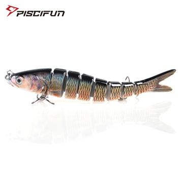 цена на Piscifun Hard Fishing Lure 14CM 27g Multi Jointed 3D Eyes Lure 8-Segment  Hard Lure Crankbait With 2 Hook Fishing Baits