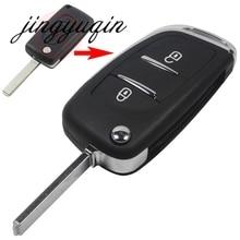 jingyuqin VA2 Modified 2 Button Flip Folding Key Shell For CITROEN C2 C3 C4 C6 Berlingo Remote Fob Case