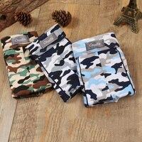 Plus Size 9XL 3pcs Boxer Men Cueca Patchwork Camouflage Boxer Shorts Bulge Pouch Underpants Printing Mens Underwear Boxers Brand