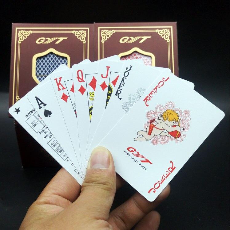 Double Givré Carte À Jouer En Plastique Pvc Petit Poker Étanche