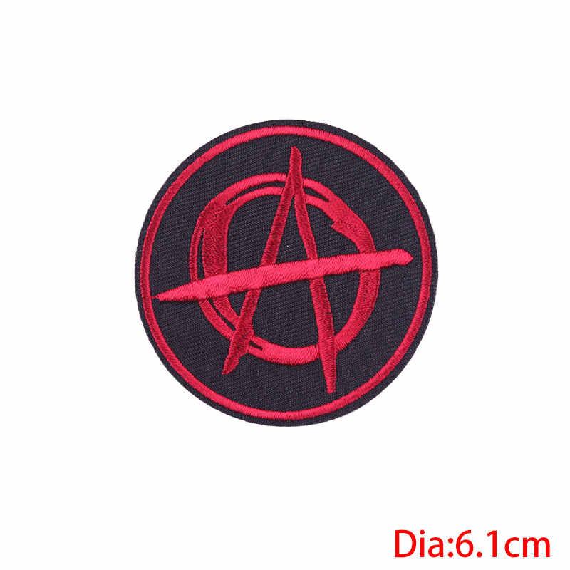 Рок-нашивка в стиле панк DIY вышитая буква нашивки значки заплатка для одежды железо на заплатках для одежды Череп Аппликация полосатые наклейки H