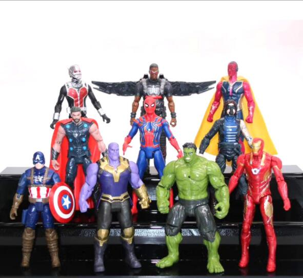 JHACG 15cm 13pcs/set Avengers Infinity War iron Man Thanos Hulk Black Panther Thor Spiderman Captain Action figure toys doll marvel avengers infinity war thanos ironman spiderman thor captain american venom hulk black panther figure vinyl model toys