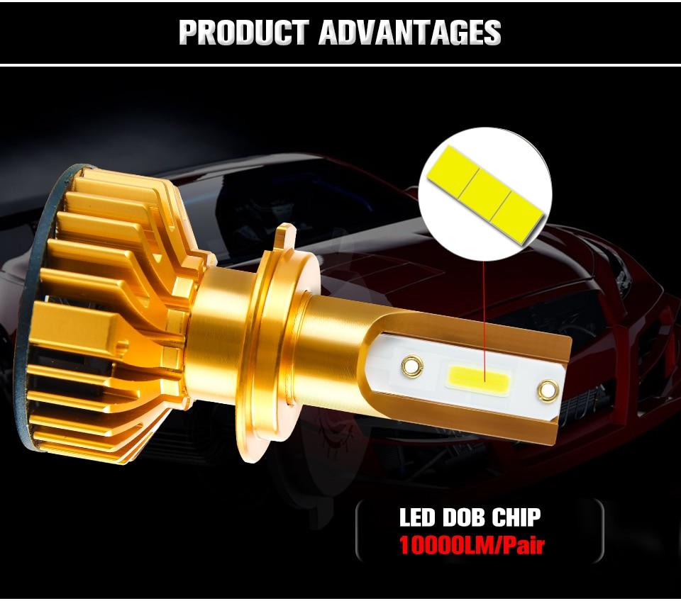 Aceersun New Upgrade Mini Canbus H4 LED H7 Car Headlight 50W 10000LM Set H1 H11 9005 HB3 9006 HB4 H8 6000K Bulbs Car Accessories (3)