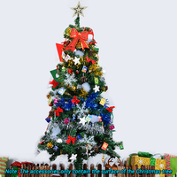 1 5M 300 Christmas Tree With 15 Kinds Decoration Supplies Xmas Trees Ornaments LED Light Wholesale