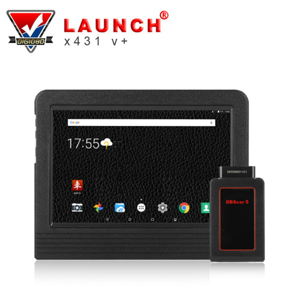 LAUNCH X431 V+ Full System Diagnostic OBD2 Wifi Tablet Scan Tool 2 Years Online Update Bluetooth Connector&Complete Accessories