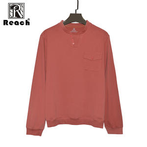 950ee80111bf reach Men T Shirt Cotton Long Sleeve V Neck 4xl WIth Pocket Solid T Shirt  Men Tops Hombre WorkWear High Quality New