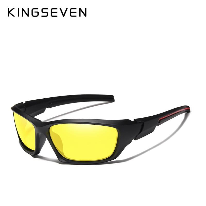 KINGSEVEN Brand 2018 Mäns polariserade solglasögon TR90 Frame Night - Kläder tillbehör - Foto 5