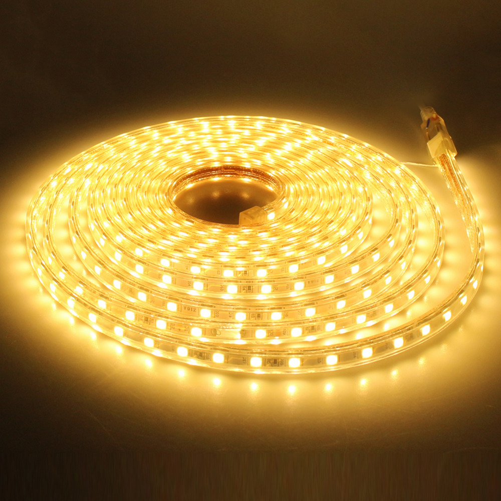 30 100M 60 LEDs/ meter Warm White LED Strip Light Ultra Bright 5050 SMD LED Outdoor Garden Home Strip Rope Light Waterproof - 2