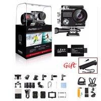AKASO Brave 4 К к 20MP Wifi Экшн камера Ultra HD с EIS 30 м подводный водостойкий пульт дистанционного управления спортивная видеокамера + шлем аксессуары