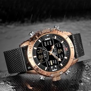 Image 3 - Naviforce 2019 Sport LED Digital Military Herren Uhren Top Brand Luxus Stahl Strap Armbanduhr Relogio Masculino montre homme
