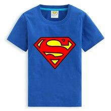 Niños Superman ropa de 2016 del verano camisetas niños Tops niños de manga corta súper hombre camiseta 9 colores