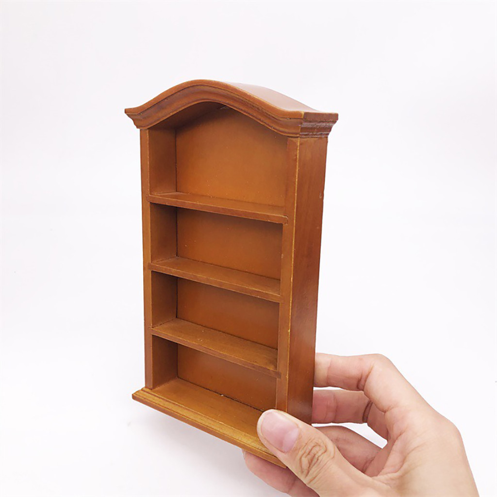 check out c1320 56459 US $8.09 18% OFF 1/12 Dollhouse Furniture Mini Bookshelf Simulation  Miniature Living Room Kid Pretend Play Toy DIY Doll House Accessories  ToyA513-in ...
