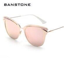 Banstone зеркало объектив металлический сплав кадров ретро очки женщины кд плоским так rea солнцезащитные очки cat eye очки люнет de soleil