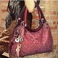 Hot Casual PU bolso de Cuero bolsa de ocio hombro ahueca hacia fuera una bolsa de mensajero mujer paquetes de cena C1066