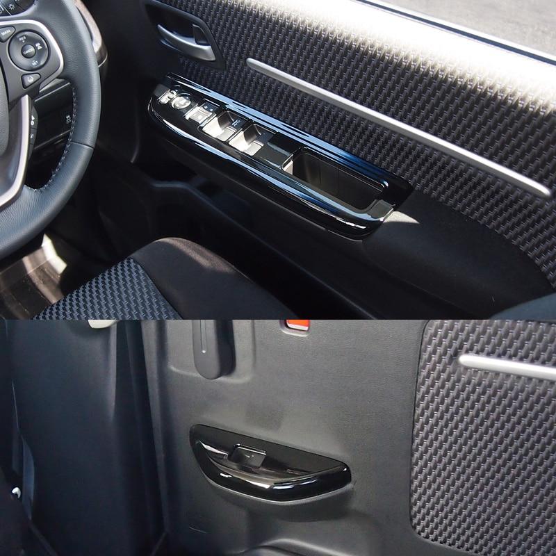 JY 4PCS Window Lift Control Panel Cover Trim Car Styling Accessories For HONDA STEPWGN / STEPWGN SPADA RP 2015