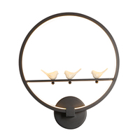 Nordic Mordern Simple LED Wall Lamp Creative Birds Sweetheart Angels Indoor Living Room Bedroom Reading Light