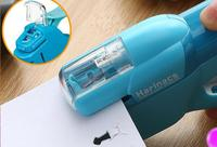 Stationery Office Portable Labor saving Type Stapler Hand held Stapleless Stapler Hot Plastic Bookbinding Mini Stapler