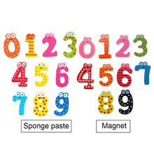 Hoomall 10pcs Baby Kids Lovely Animal Number Stickers Cute Wooden Alphabet Refrigerator Magnets Stick Figure Learning Toys(China)