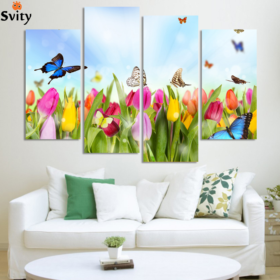 Modern Wall Paintings Living Room Compare Prices On Butterfly Wall Painting Online Shopping Buy Low