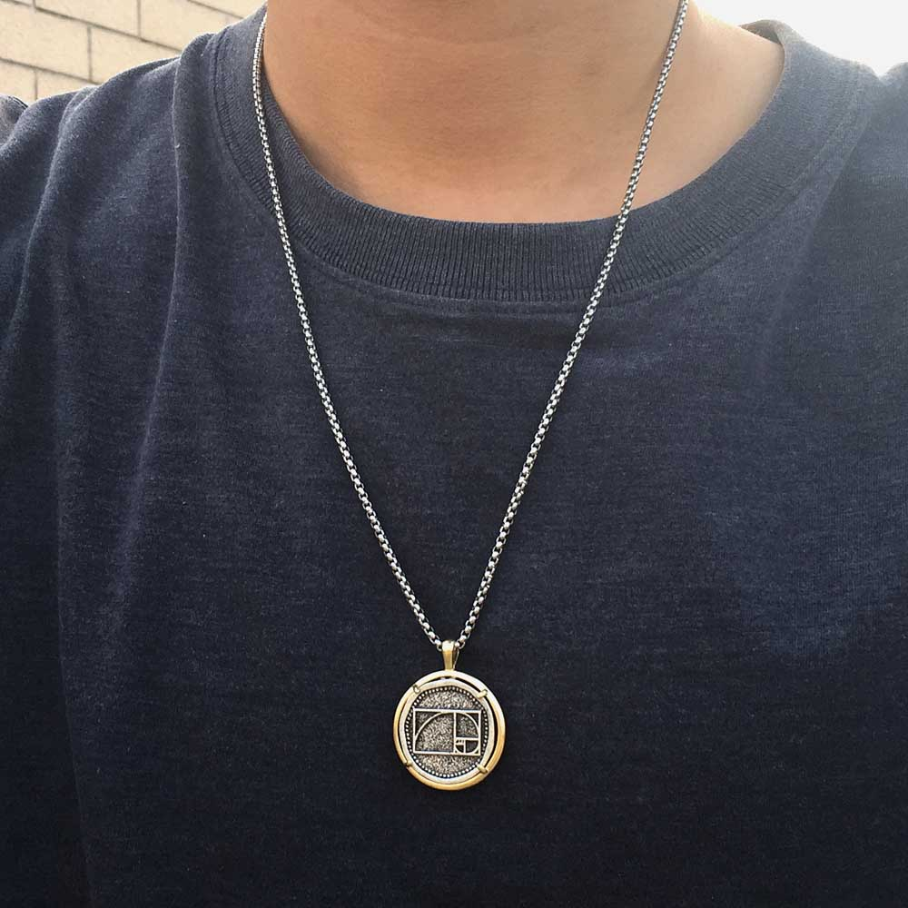 Golden Spiral Necklace Golden Ratio Necklace Men/'s Jewelry Name Necklace Fibonacci Spiral STAINLESS STEEL Necklace Engraved Necklace Artist