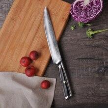 2018 Sunnecko 8″ Slicing Damascus Kitchen Knife Japanese VG10 Core Steel Razor Sharp Blade G10 Handle Cooking Slicer Knives