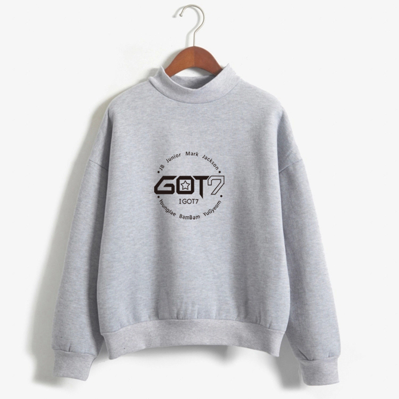 KPOP GOT7 Hoodies Women Sweatshirt Autumn Winter Fleece Street Wear Moletom Feminino Casual Winter Fleece Tracksuit