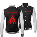 New 2015 Autumn Thick Tracksuits SoilWork Rock Band Printed Skateboard Active Coats And Baseball Style Jackets Famous Brand Men