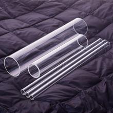 3 szt Wysokiej jakości szkło borokrzemowe średnica zewnętrzna 34mm Thk 2 5mm L 200mm 250mm 300mm szklanka odporna na wysoką temperaturę tanie tanio NoEnName_Null Kolby High borosilicate glass tube O D 34mm