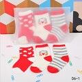 2016 Otoño Invierno Cálido Niños Niñas Calcetines Calcetines de Algodón 0-3 Años Bebé de La Manera Niños de Dibujos Animados Bebé Calcetines 3 par/lote