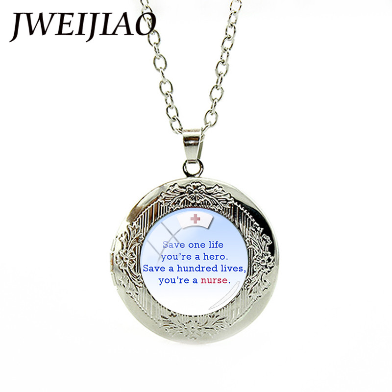 JWEIJIAO Nurses Doctors Declaration Legend Locket Necklace Medical Staff School Students Graduation Birthday Gifts DO12 In Pendant Necklaces From