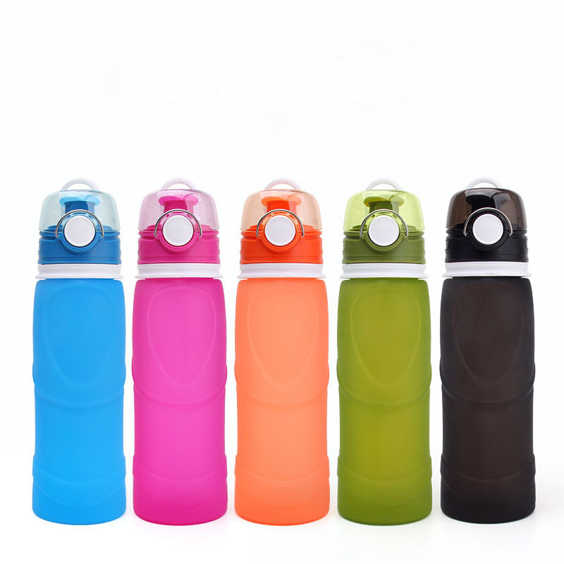 Brand New 750ml Foldable Silicone Water Bottle BPA Free Portable Silicone Bottle Outdoor Climbing Cycling Camping Sport Bottle