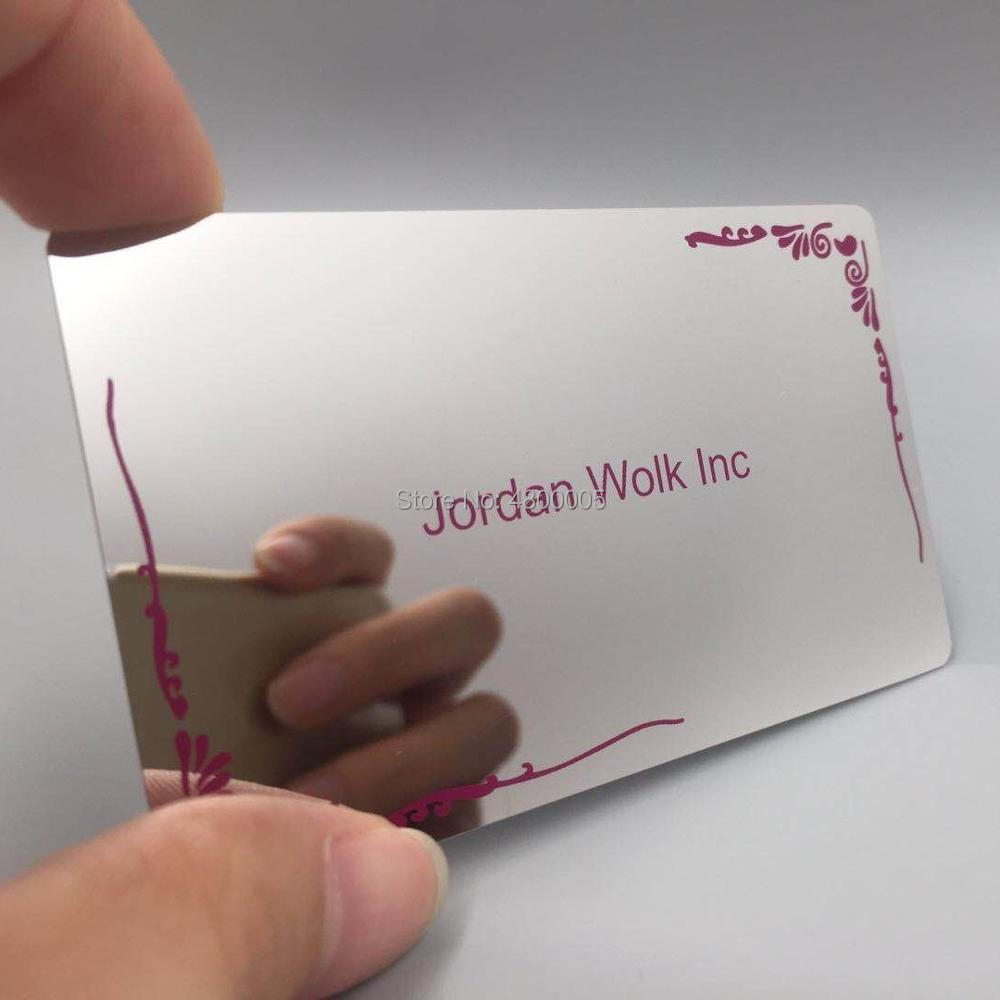 Custom Luxury Mirror Finish Metal Business Card With Competitive Price