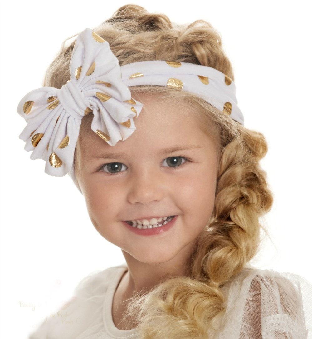 Retail Headwraps Big Bow Dot Turban Headbands Top Knot