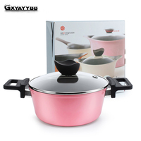 Soup pot ceramic household cooking pot, non stick pan, imitation die casting pot, heat conducting fast uniform oven general