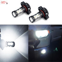 2 X H11 H8 H10 H16 PSX24W 9006 880 881 LED Car Fog Lights DRL Bulb