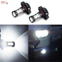 2 X H11 H8 H10 H16 PSX24W 9006 880 881 LED Car Fog Lights DRL Bulb