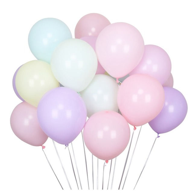 10 inch 100 pcs/lot Macaron Latex balloons Candy Helium Balloon For Party Wedding Birthday Child Toys Baloon Decoration Ball