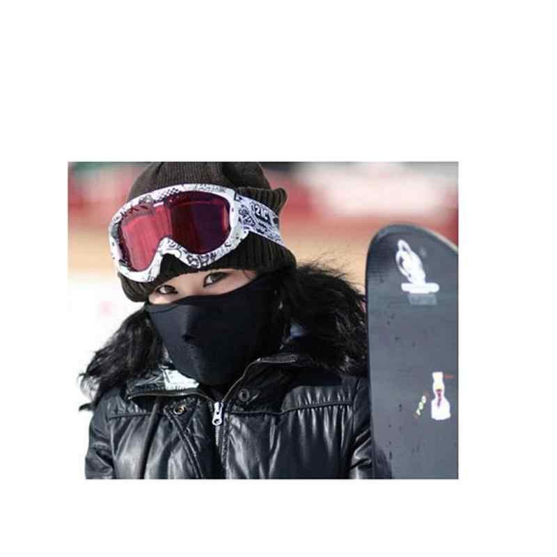 Зимняя велосипедная маска ветрозащитная тренировочная маска для спорта на открытом воздухе шеи Теплая закрывает половину лица страйкбол маска Аксессуары для велосипеда