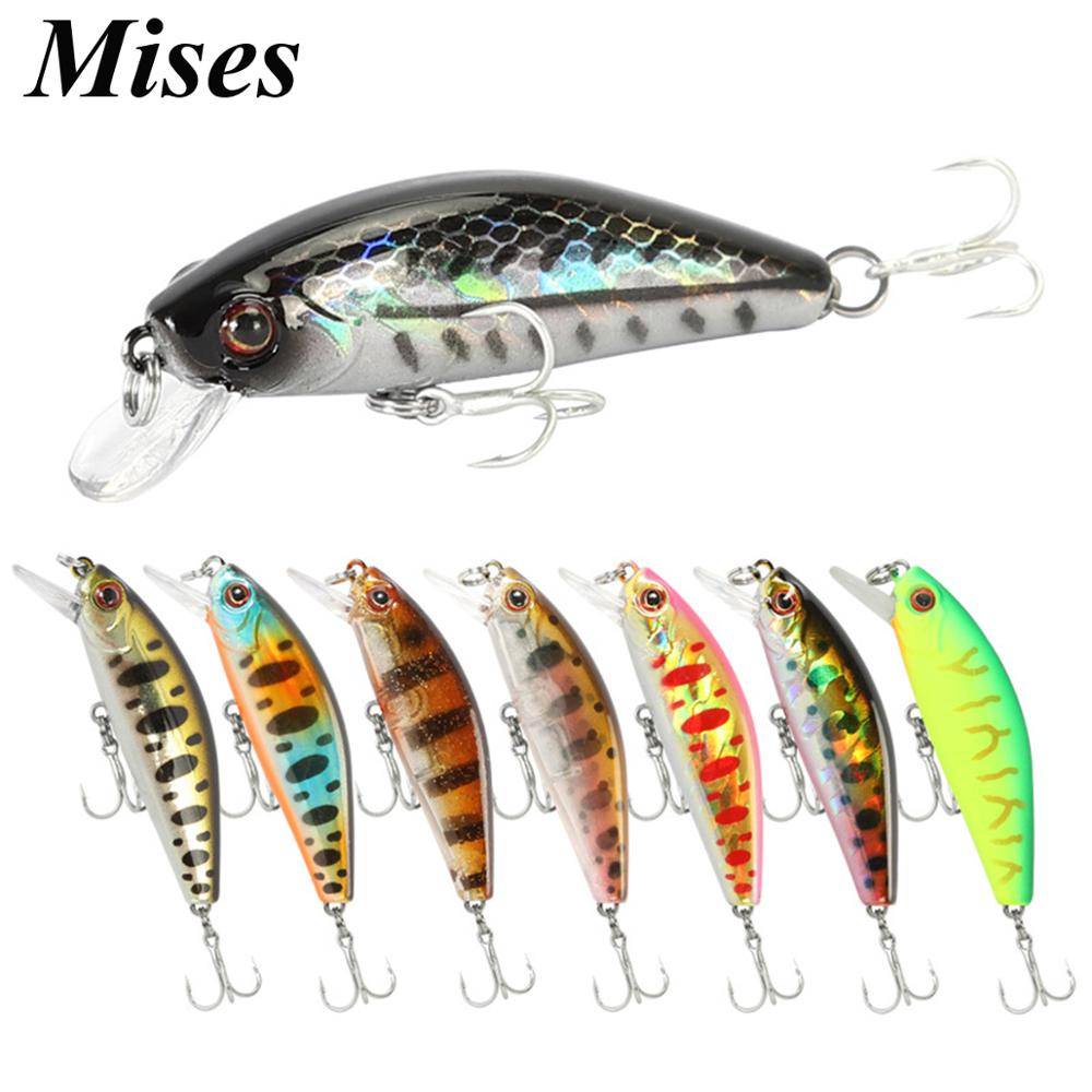 Mises 5.5cm 6.5g Ten Colors Long Shot Sinking Bionic Minnow Lure Artificial Bait Hard Bait Fishing Lure Fishing Tackles