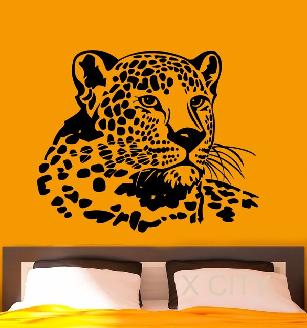 Leopard Wall Decal Vinyl Stickers Wild African Animals Home - Wall stickers for bedrooms interior design