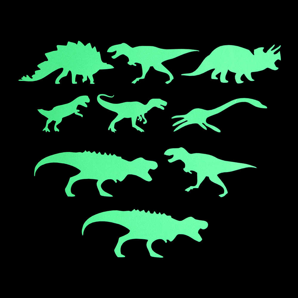 זוהר בחושך דינוזאורים צעצועי מדבקות תקרת מדבקות 3D ניאון תינוק קיד חדר PVC מדבקת בית צעצועים לילדים ילדי מתנה